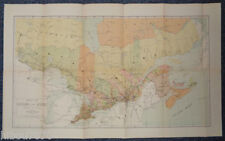 "1904 26.75"" x 16.5"" Color Map of Ontario and Quebec (Dominion of Canada)"