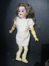 "Antique Armand Marseille 3600 Bisque Doll Blue Eyes Blonde Hair 12"" S810 Pd"