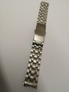 18mm Stainless Steel Replacement Strap Watch Bracelet Fits Omega Seamaster watch