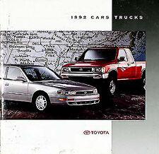 1992 Toyota Sales Catalog Celica Supra MR2 Camry Truck Land Cruiser 4Runner 92