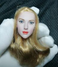 "1:6 Scale Gold Hair European Beauty Woman Head For 12"" Female Figure Body"