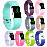 Sport Replacement Silicone Gel Band Strap Bracelet Wristband for Fitbit Charge 2