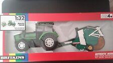 BRITAINS FARM Deutz DX6 Tractor & Round Baler 9628