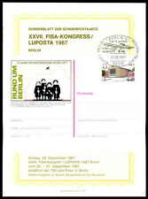BERLIN GA-SONDERBLATT 1987 FISA-KONGRESS LUPOSTA AVIATION FLUG GANZSACHE ze82
