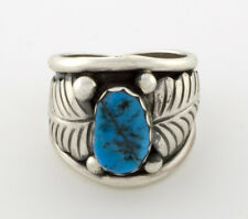 Size 10 1/4, Kingman Turquoise Ring By Navajo Artist Anna Spencer