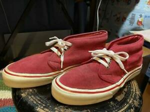 Men 10Us Vans Made In Usa  Chukka Suede Red 80S