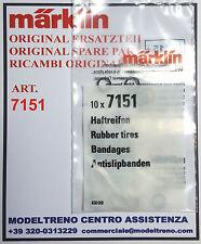 MARKLIN  7151  CERCHIATURE ADERENZA - HAFTREIFEN -  RUBBER TIRES  (10 ST.)