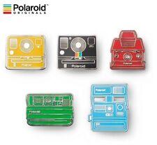 Polaroid Originals Instant Camera Pin Badge Collector 5pcs Set 600 SX70 Onestep