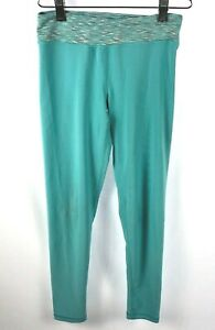 90 DEGREE by REFLEX Women's Turquoise Athletic Stretch Yoga Pants Size M/10