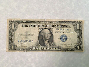 1935A Series $1 Dollar Silver Certificate Short Snorter Signed Banknote *