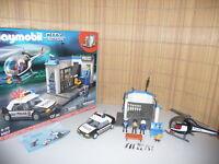 Playmobil City Action 5607 Polizeiwache mit Auto und Helikopter komplett in OVP