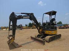 2013 John Deere 27d Mini Excavator Trackhoe Swing Boom Aux Hydraulics Bidadoo