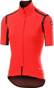 Castelli Women's Perfetto RoS (Gabba) Short Sleeve Jacket Orange Size Small