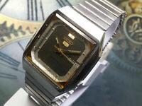 Jahrgang Seiko 5 mechanisc automatisch Bewegung TagDatum Herren Handgelenk Uhr Z