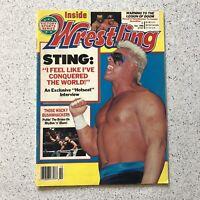 Inside Wrestling Magazine October 1990 Sting Road Warriors NWA WCW WWF