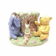 Disney Ceramic Classic Winnie The Pooh Eeyore Piglet Toothbrush Holder