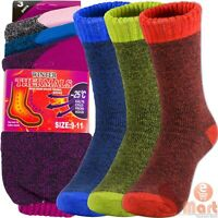 6 Pairs Womens Winter Warm Thermal Heated Heavy Duty Boots Socks Sox Size 9-11