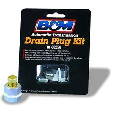 B&M 80250 Universal Drain Plug Kit Transmission/Oil Pan/Rear Bulkhead Style