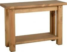 Tortilla Waxed Pine Wooden Console Table Side Display Stand  Mexican Furniture