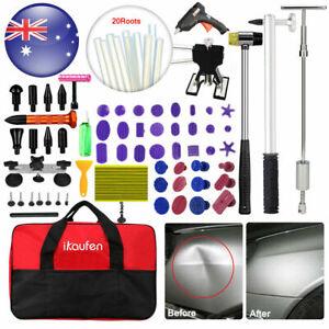 85 PDR Tools Kit Car Paintless Dent Puller Lifter Hammer Glue Gun Removal Repair
