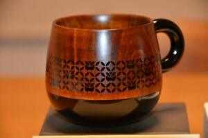 Wooden Lacquer Coffee Cup Made in Japan Starbucks NEW