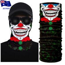 3d Clown Face Bandana Mask Shield Headwear Neck Tube Scarf Skull Head Biker UV W 3#