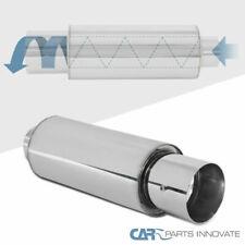 "4"" Round Tip 2.5"" Inlet Stainless Steel Spiral Flow Exhaust Muffler w/ Silencer"