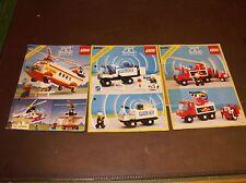 LEGO 6450, 6480, 6482 Anleitungen LIGHT & SOUND rar VINTAGE gut erhalten