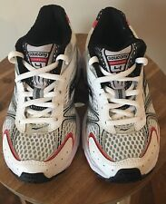 New Saucony Cohesion 4 Boys Running Shoe Wht/Blk/Red Toddler 13M