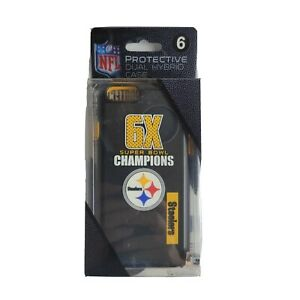 Pittsburgh Steelers 6 Time Super Bowl Champions Dual Hybrid Case for iPhone 6