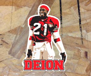 """Deion Sanders #21 San Francisco 49ers Fan Drawing Sticker Decal Bumper Window 4"""""""