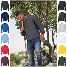Mens Womens Adults Crew Neck Sweatshirt Sweater Jumper Pullover Long Sleeve Top