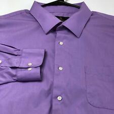 Valerio Garati Men Long Sleeve Button Up Dress Shirt XXL 18 18 ½ 34 35 Purple