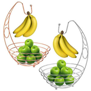 FRUIT BASKET STAINLESS STEEL SILVER CHROME PLATED FRUIT AND VEG BASKET BOWL