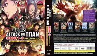 Attack on Titan (Season 1 2 3 + Junior High + 9 SP) ~ English Version ~ SEAL ~