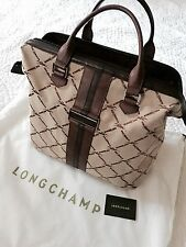 NEUF LONGCHAMP COLLECTION JACQUARD XXL GRAND SAC TOILE & CUIR HOMME FEMME BAGAGE