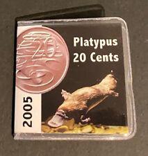 2005 Australian 20 cent RAM UNC Platypus Coin in 2x2