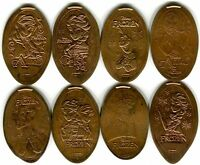 Disney's Frozen Collection Of Eight All Copper Pressed Pennies Anna, Elsa, Olaf!