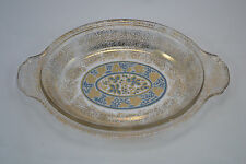 VINTAGE MID CENTURY SIGNED GEORGE BRIARD OVAL GLASS CASSEROLE SHALLOW BOWL