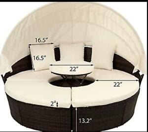 TAILOR MADE COVER* 2 sets x 5 seat cushion cover in picture ( total 10 covers )