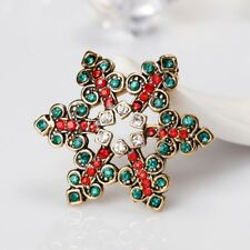Christmas Snowflake Brooch Pins Decor Wedding Winter Jewelry Women Xmas Gift