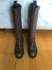 Fabulous LATTITUDE FEMME Ladies Brown Leather Knee High Boots Size 5