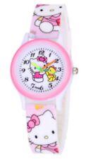 Reloj de Pulsera niños Niñas Hello Kitty Rosa Correa De Silicona Analógico Reloj de pulsera W07
