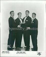 1956 Portrait of Singing Group The Four Aces Original News Service Photo