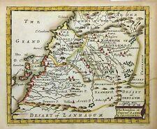 1670 Seller Miniature Map of Northwest Africa (Morocco Western Sudan) - ORIGINAL