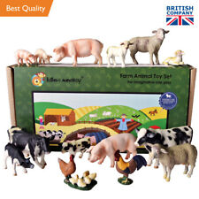 Large Farm Animals - solid plastic farm animal set of 15 - from UK importer