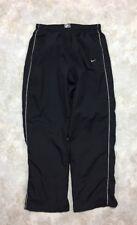 Nike Men's Black Mesh Lined Athletic Windbreaker Track Pants Sz M EUC