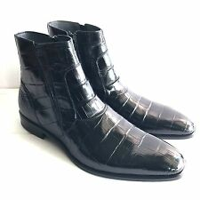 L-3866400 New Mezlan Crocodile Alligator Skin Belucci Boots Dress Shoes Size 10