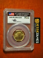 2016 W STANDING LIBERTY GOLD QUARTER PCGS SP70 MERCANTI FIRST DAY OF ISSUE DC