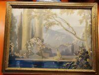 ART DECO/NOUVEAU PRINT VLADIMIR PAVLOSKY PARRISH STYLE LADIES BY WATERS EDGE